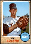 1968 Topps #276  Jim Roland  Front Thumbnail