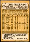 1968 Topps #488  Dick Tracewski  Back Thumbnail