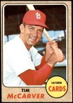 1968 Topps #275  Tim McCarver  Front Thumbnail