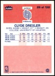 1986 Fleer #26  Clyde Drexler  Back Thumbnail