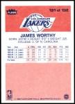 1986 Fleer #131  James Worthy  Back Thumbnail