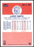 1986 Fleer #104  Larry Smith  Back Thumbnail