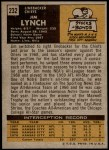 1971 Topps #232  Jim Lynch  Back Thumbnail