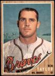 1962 Topps #406  Bob Taylor  Front Thumbnail