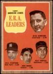 1962 Topps #55   -  Dick Donovan / Bill Stafford / Don Mossi / Milt Pappas AL ERA Leaders Front Thumbnail