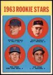 1963 Topps #562   -  Dave McNally / Ken Rowe / Randy Cardinal / Don Rowe Rookie Stars   Front Thumbnail