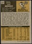 1971 Topps #227  Gene Mingo  Back Thumbnail