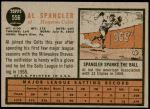 1962 Topps #556  Al Spangler  Back Thumbnail