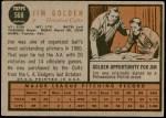 1962 Topps #568  Jim Golden  Back Thumbnail