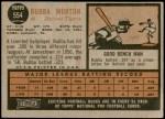 1962 Topps #554  Bubba Morton  Back Thumbnail