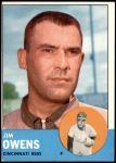 1963 Topps #483  Jim Owens  Front Thumbnail