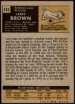 1971 Topps #115  Larry Brown  Back Thumbnail