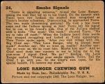 1940 Lone Ranger #24   Smoke Signals Back Thumbnail