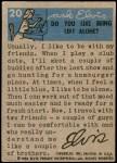 1956 Elvis Presley #20   Tux for TV Back Thumbnail