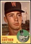 1963 Topps #219  Chuck Cottier  Front Thumbnail