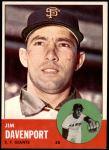 1963 Topps #388  Jim Davenport  Front Thumbnail