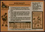 1975 Topps #231  Bob Dailey  Back Thumbnail