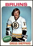 1975 Topps #235  Gregg Sheppard   Front Thumbnail