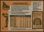 1975 Topps #269  Don Markotte   Back Thumbnail