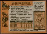 1975 Topps #117  Jacques Richard   Back Thumbnail