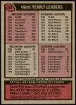 1977 Topps #225   49ers Team Checklist Back Thumbnail