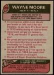 1977 Topps #299  Wayne Moore  Back Thumbnail