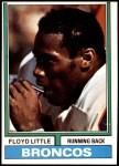 1974 Topps #10  Floyd Little  Front Thumbnail