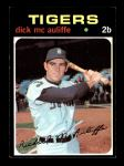 1971 Topps #3  Dick McAuliffe  Front Thumbnail