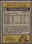1979 Topps #204   -  Thom Darden All-Pro Back Thumbnail