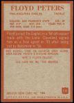 1965 Philadelphia #135  Floyd Peters   Back Thumbnail