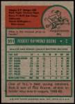 1975 Topps #351  Bob Boone  Back Thumbnail