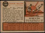 1962 Topps #188 NRM Chuck Hiller  Back Thumbnail