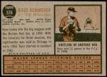 1962 Topps #576  Russ Kemmerer  Back Thumbnail