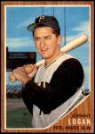 1962 Topps #573  Johnny Logan  Front Thumbnail