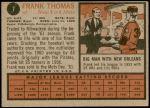 1962 Topps #7  Frank Thomas  Back Thumbnail