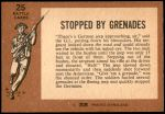 1966 A and BC England Battle #25   Stopped By Grenades Back Thumbnail