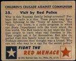 1951 Bowman Red Menace #35   Visit by Red Police Back Thumbnail