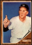 1962 Topps #588  Birdie Tebbetts  Front Thumbnail
