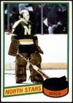 1980 Topps #47  Gilles Meloche  Front Thumbnail