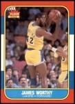 1986 Fleer #131  James Worthy  Front Thumbnail