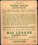 1933 Goudey #30  Frank Hogan  Back Thumbnail