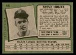 1971 Topps #486  Steve Huntz  Back Thumbnail