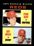 1971 Topps #164   -  Frank Duffy / Milt Wilcox Reds Rookies Front Thumbnail
