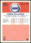 1986 Fleer #82  Akeem Olajuwon  Back Thumbnail