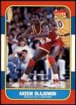 1986 Fleer #82  Akeem Olajuwon  Front Thumbnail