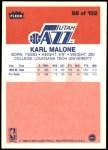 1986 Fleer #68  Karl Malone  Back Thumbnail