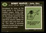 1969 Topps #19  Bobby Maples  Back Thumbnail
