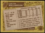 1986 Topps #169  Carlton Williamson  Back Thumbnail