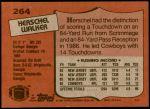 1987 Topps #264  Herschel Walker  Back Thumbnail