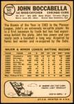 1968 Topps #542  John Boccabella  Back Thumbnail